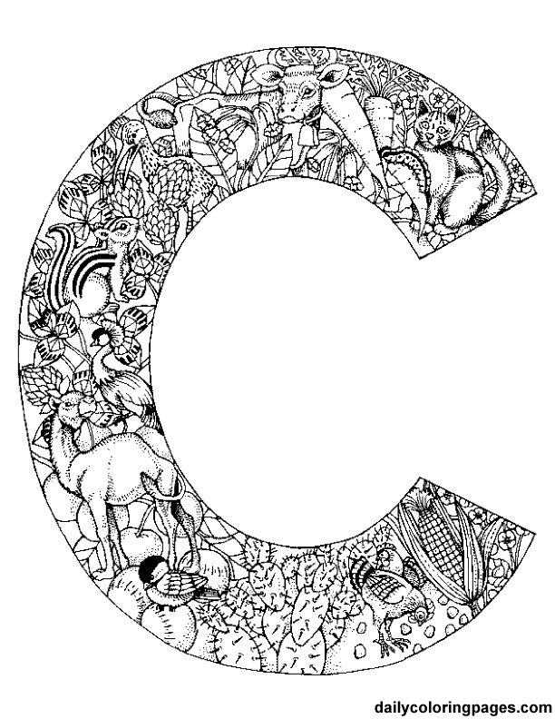 similiar challenging coloring pages printable letters keywords
