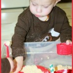 Valentine's Cloud Dough Sensory Play (8)