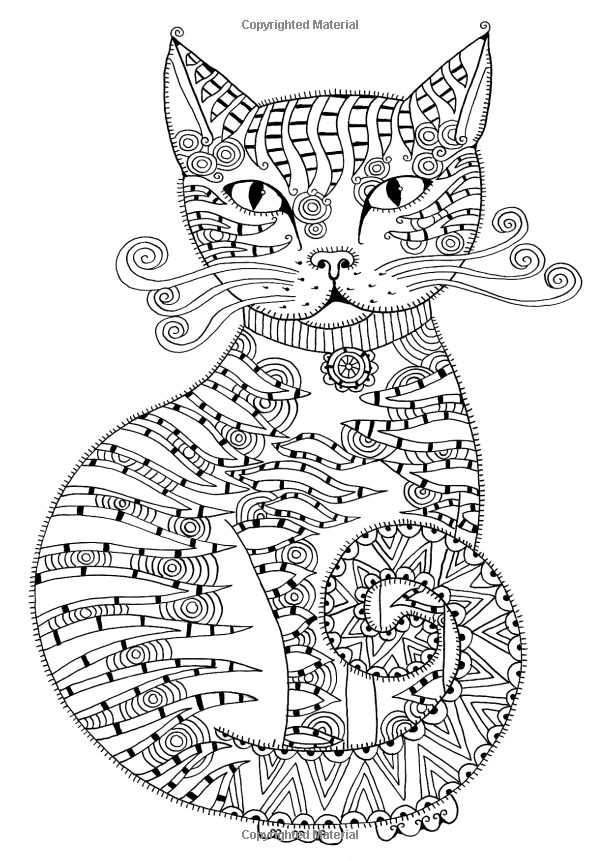 Cat Coloring Pages For Adults  Free Coloring Sheets